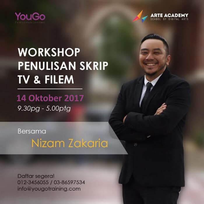 Workshop Penulisan Skrip TV dan Filem Bersama Nizam Zakaria