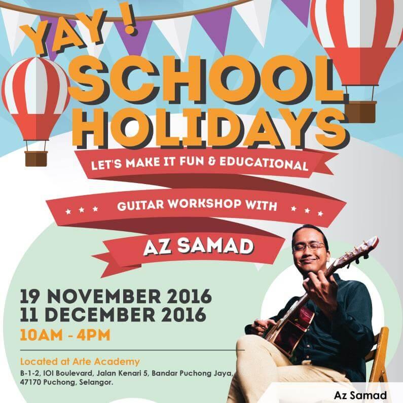 Yay School Holidays 2016 Guitar Workshop with Az Samad 795x795