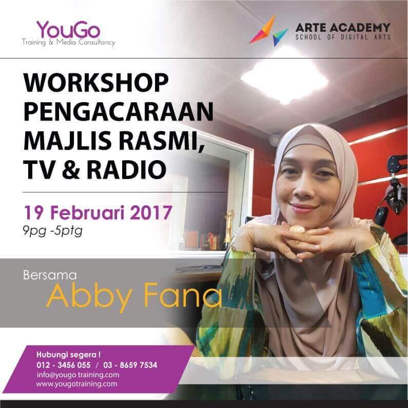 Workshop Pengacaraan Majlis Rasmi TV Radio Abby Fana 795x795