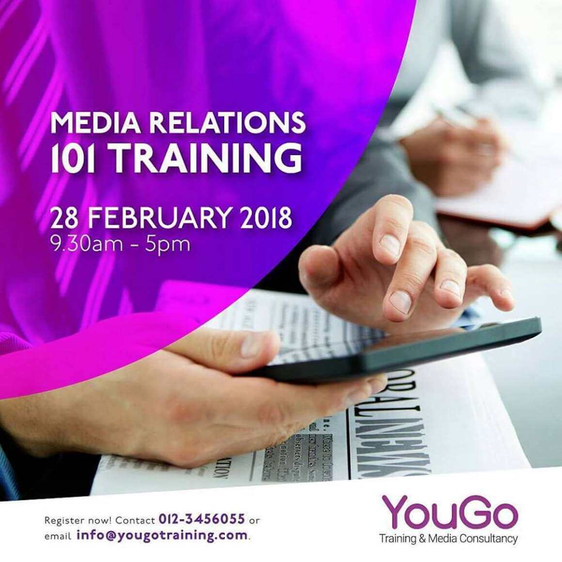 Media Relations 101 Training with YM Raja Azuni Aziz